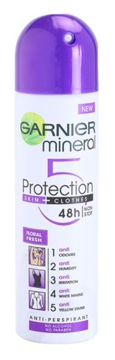 Imagine Deodorant Spray anti-perspirant fară alcool Garnier Mineral 5 Protection 48h 150ml