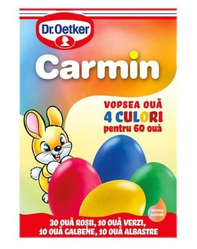 Imagine Vopsea oua 4 culori Carmin, 60 oua, 20g