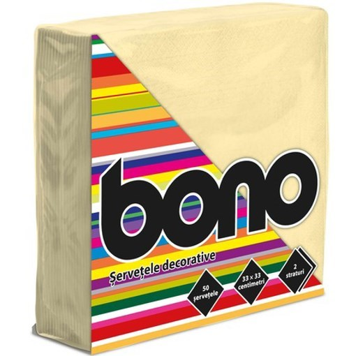 Imagine Bono Servetele de masa 33x33, crem, 50 buc.