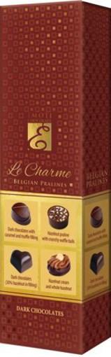 Imagine Bomboane de ciocolata neagra Emoti Le Caprice 65g