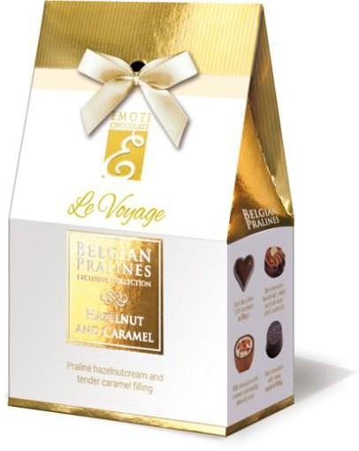 Imagine Bomboane de ciocolata cu alune si caramel Emoti Le Voyage 81g