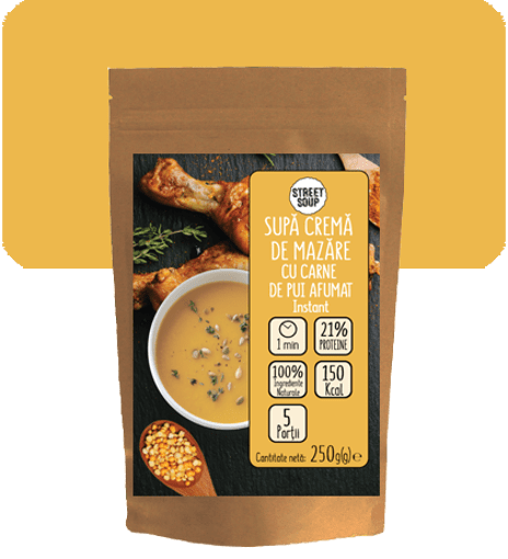 Imagine Supa Crema de Mazare cu Carne Pui Afumat Street Soup 250g