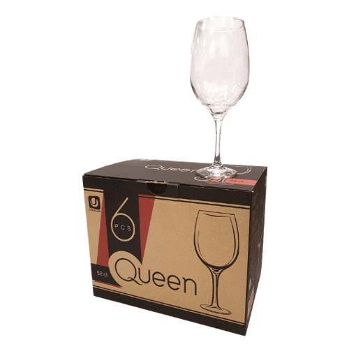 Imagine Set 6 Pahare cu Picior Queen 58cl