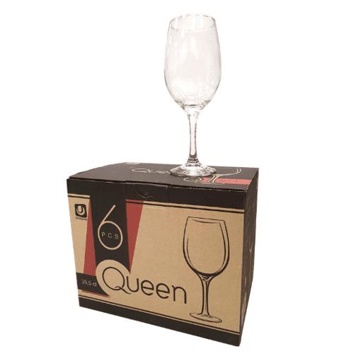 Imagine Set 6 Pahare cu Picior Queen 36.5cl