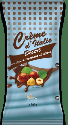 Imagine Desert cu crema cu ciocolata si alune Crème d'Italie Vel Pitar 300g