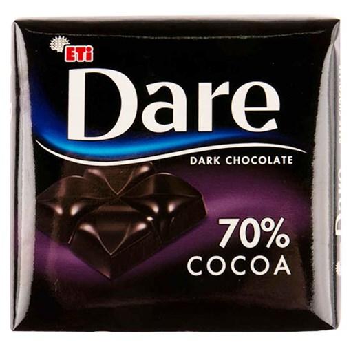 Imagine Napolitane cu ciocolata neagra 70% Dare Dark Cocoa 70g
