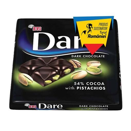 Imagine Napolitane ciocolata neagra si fistic Dare Dark Pistachio 70g