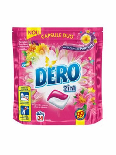 Imagine Detergent capsule Dero Duo Caps Bujori de munte si Flori de Stanjenel 24buc