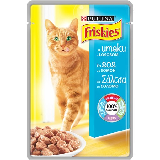 Imagine Hrana umeda de pisici Friskies  Adult Cat cu Somon 85g