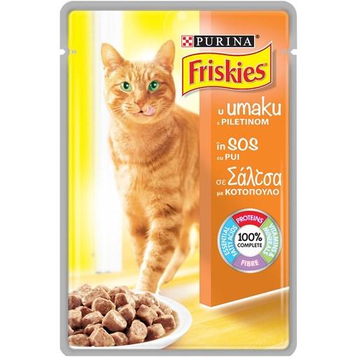 Imagine Hrana umeda Friskies Adult Cat cu Pui 85g