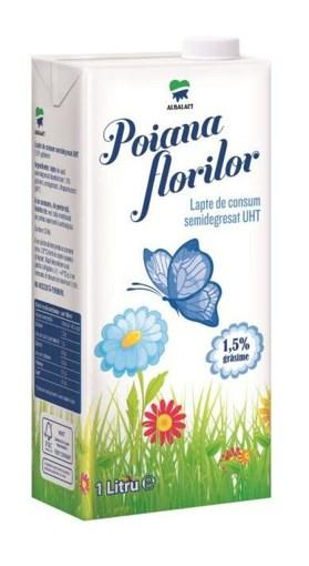 Imagine Lapte UHT Poiana Florilor 1.5% 1l