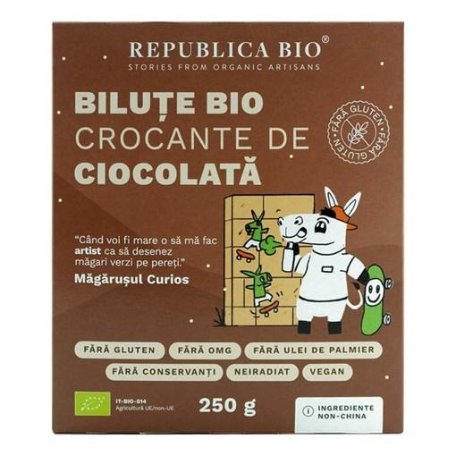 Imagine Bilute Bio crocante de ciocolata FARA GLUTEN Republica BIO, bio, 250 g