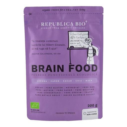 Imagine Brain Food, pulbere functionala ecologica Republica BIO, 200 g