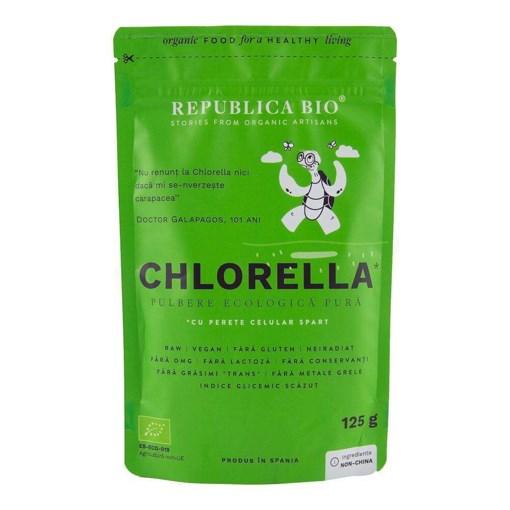 Imagine Chlorella, pulbere ecologica pura Republica BIO, 125 g