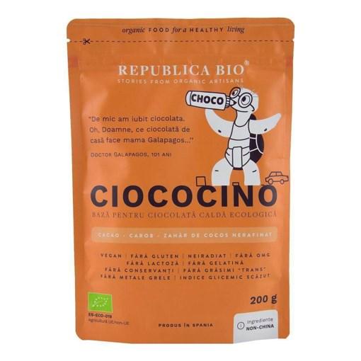Imagine Ciococino baza pentru ciocolata calda ecologica Republica BIO, 200 g