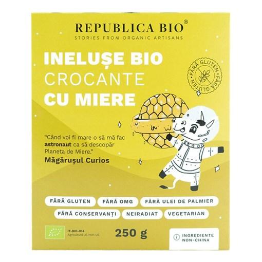Imagine Ineluse Bio crocante cu miere FARA GLUTEN Republica BIO, bio, 250 g