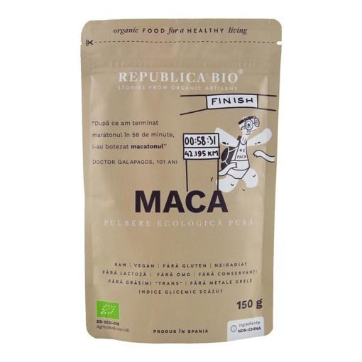 Imagine Maca, pulbere ecologica pura Republica BIO, 150 g