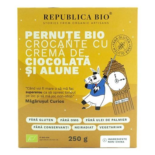 Imagine Pernute Bio crocante cu crema de ciocolata si alune FARA GLUTEN Republica BIO, bio, 250 g