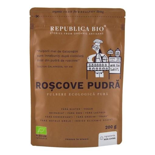 Imagine Roscove pudra, pulbere ecologica pura Republica BIO, 200 g