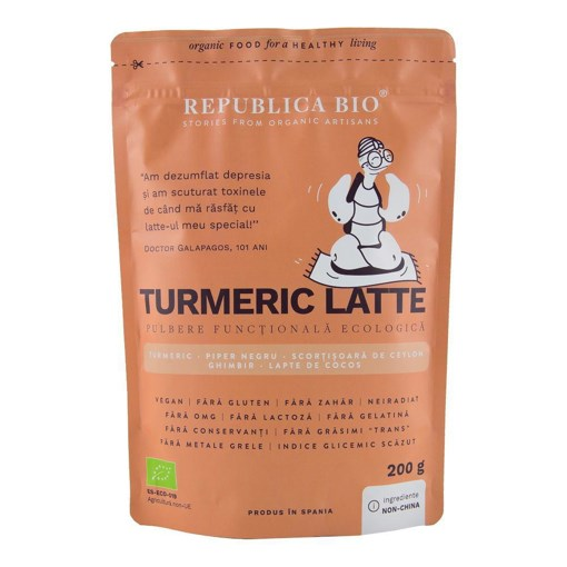 Imagine Turmeric Latte, pulbere functionala ecologica Republica BIO, 200 g