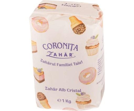 Imagine Zahar Alb Cristal Coronita 1kg