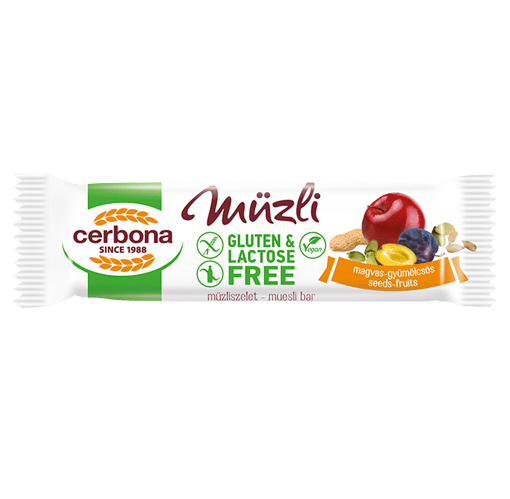 Imagine Baton musli fara gluten seminte si fructe Cerbona, 35g