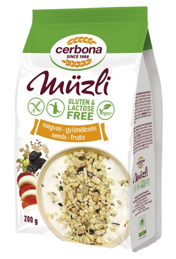 Imagine Musli fara gluten seminte si fructe Cerbona, 200g